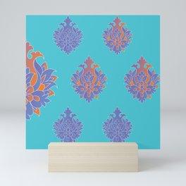 Shah-Abbasi Flower (Blue) Mini Art Print