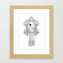 """Cuckoo clock, """"I have gone cuckoo."""" Framed Art Print"""