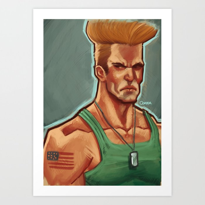 Guile Street Fighter Art Print By Lucascordda Society6