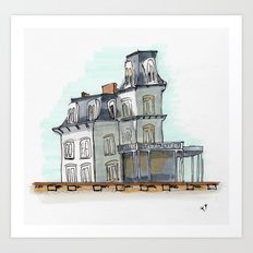 house by the railroad 2.0 Art Print