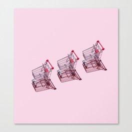 Shopping Carts Canvas Print