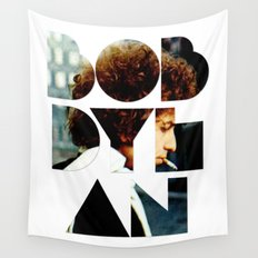 Bob Dylan Font Colour Wall Tapestry