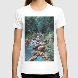 Flowing Botanical Garden Creek Portrait T-shirt