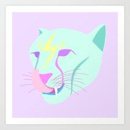 ROCK CAT Art Print
