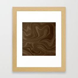 Chocolate Brown Swirl Framed Art Print