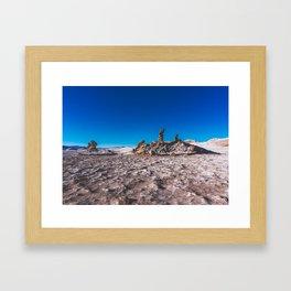Las Tres Marías (Valle de la luna) - The three Marias Valley of the Moon, Atacama Desert, Chile Framed Art Print