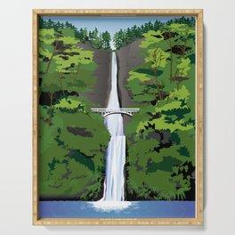 Multnomah Falls Illustration Serving Tray