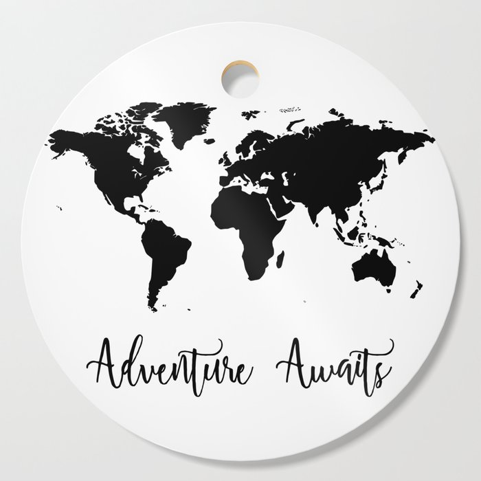 Adventure Awaits Cutting Board by olaholahola