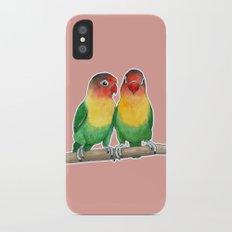 Fischer's lovebirds iPhone X Slim Case