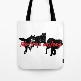Running Wolves [White] Tote Bag