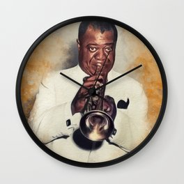 Louis Armstrong, Music Legend Wall Clock