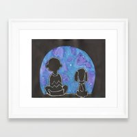 charlie brown Framed Art Prints featuring Charlie Brown Wonderment by Sofia's Antics'