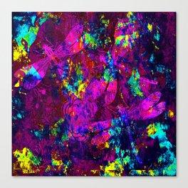 Colorful Dragonflies ZZ Q Canvas Print