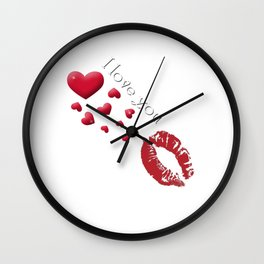 I Love You Wall Clock