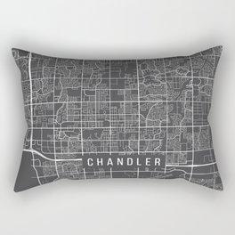 Chandler Map, Arizona USA - Charcoal Portrait Rectangular Pillow