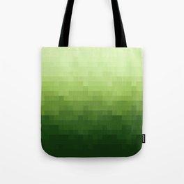 Gradient Pixel Green Tote Bag