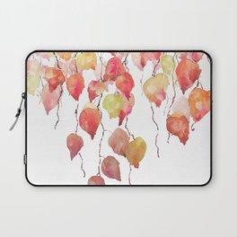 orange red crimson glory vine leaf watercolor Laptop Sleeve