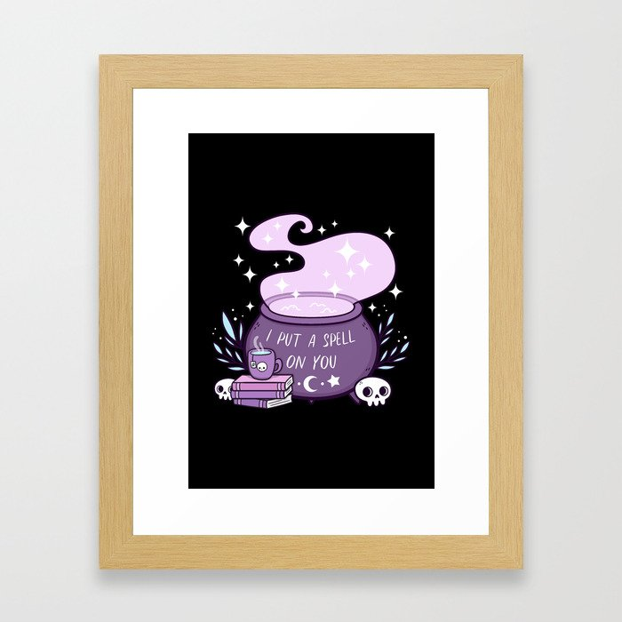 Witch Cauldron Framed Art Print