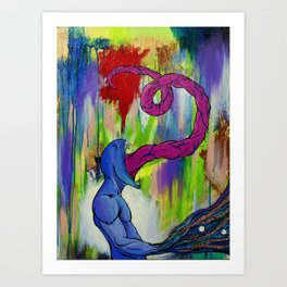 Tunge Monster Art Print