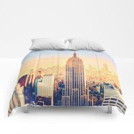 New York City Sunset Glow Comforters
