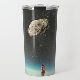 Summer with a Chance of Asteroids Travel Mug