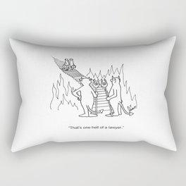 """One Hell Of A Lawyer"" Rectangular Pillow"