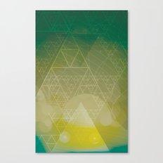illuminate me green Canvas Print