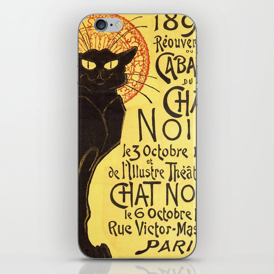 Chat Noir Cat iPhone & iPod Skin
