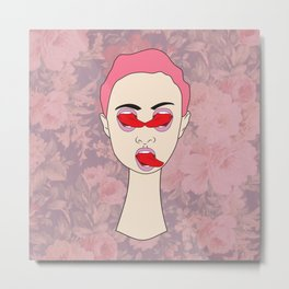 Hungry Eyes Miley Edition Metal Print