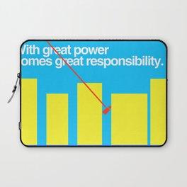 Minimal Superhero Poster Laptop Sleeve