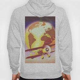 Vintage Plane and Globe Hoody