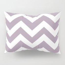 Heliotrope gray - grey color -  Zigzag Chevron Pattern Pillow Sham