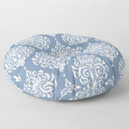 Sky Blue Damask Floor Pillow