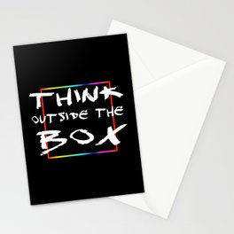 Think outside the box Stationery Cards