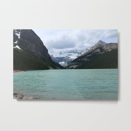 Lake Louise From The Eastern Shore Metal Print