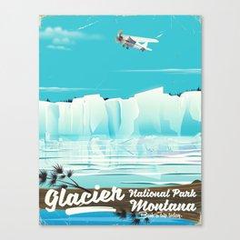 Glacier National Park vintage poster Canvas Print