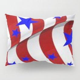 PATRIOTIC AMERICANA JULY 4TH BLUE STARS DECORATIVE ART Pillow Sham