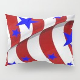 PATRIOTIC AMERICANA JULY 4TH BLUE STARS DECORATIVE ART Pillow Sham