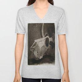 Charcoal Skull  Unisex V-Neck