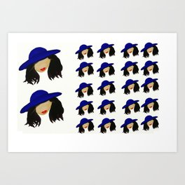Same hat on every person. Art Print