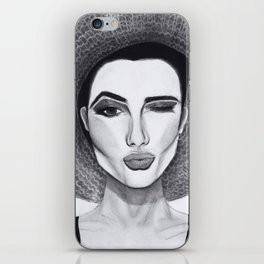 Kissy Winky Face iPhone Skin