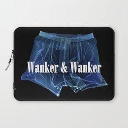 Wanker & Wanker Half Logo Laptop Sleeve