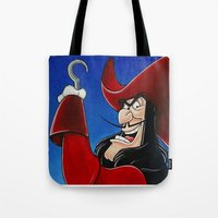 hook Tote Bags featuring Hook by Laura-A