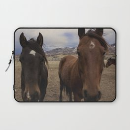 Horses Before the Storm Laptop Sleeve