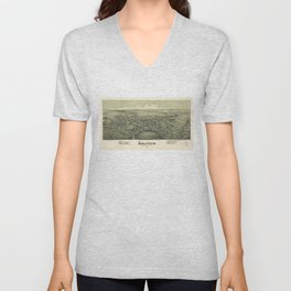 Aerial View of Gallitzin, Pennsylvania (1901) Unisex V-Neck
