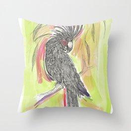 Lime wash Cockatoo Throw Pillow