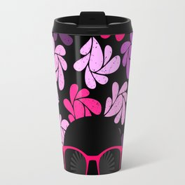 Afro Diva Pink Purple Travel Mug