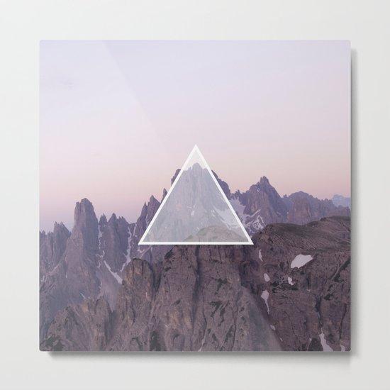 Mountain Triangle Metal Print