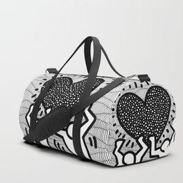Keith Haring - heart Duffle Bag