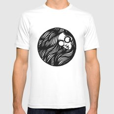 Circle Lady 3 Mens Fitted Tee White MEDIUM